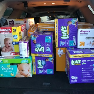 Total Diapers--2,822!
